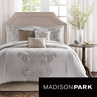 madison park randall 7 piece comforter set by madison park light gray walls and pink curtains. Black Bedroom Furniture Sets. Home Design Ideas