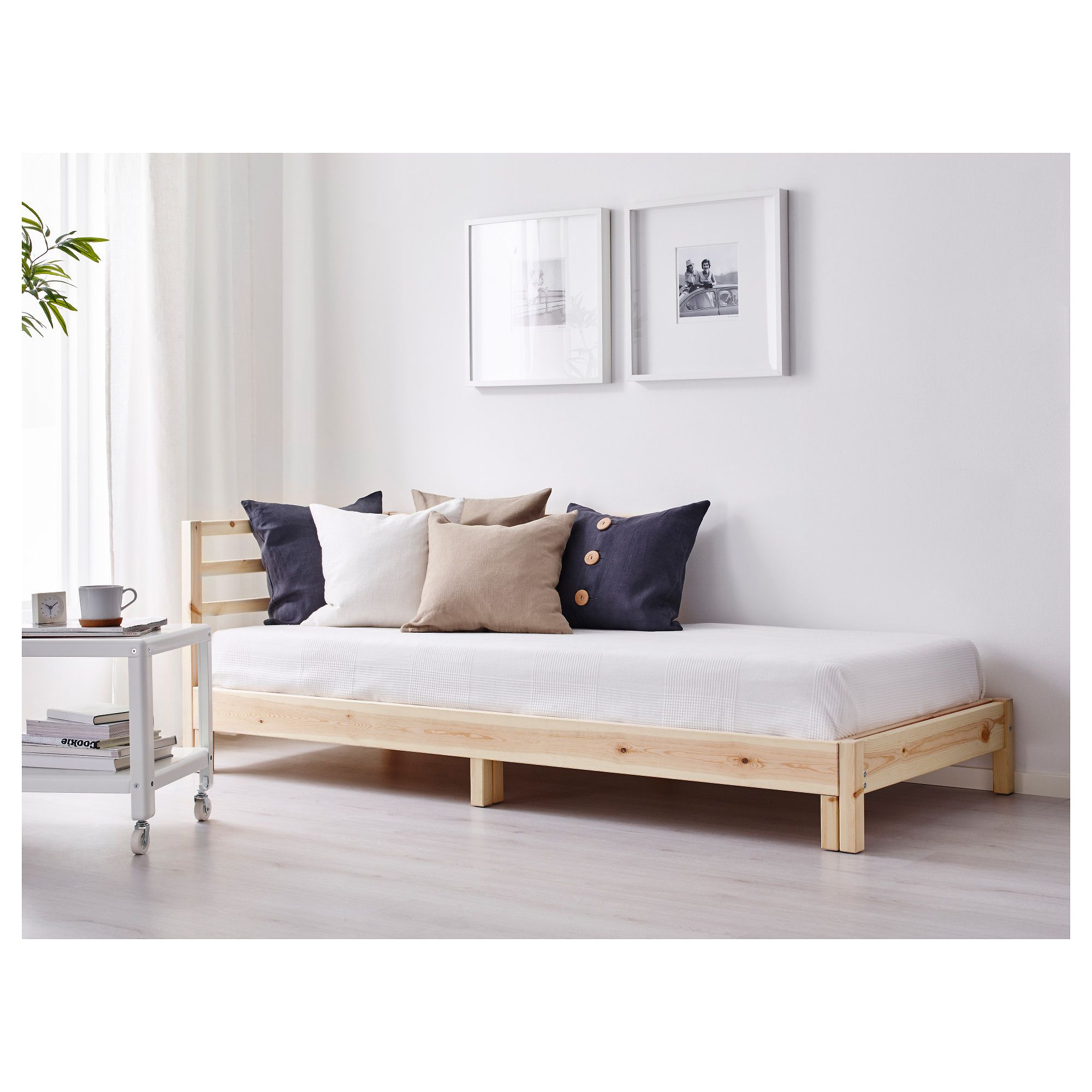 Ikea Tarva Day Bed With 2 Mattresses Two Functions In One Chaise Longue By And Night
