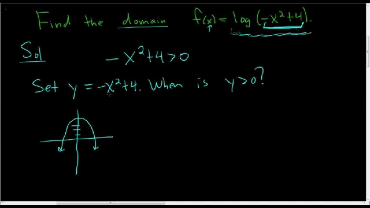 Finding the Domain of a Logarithmic Function Example 2