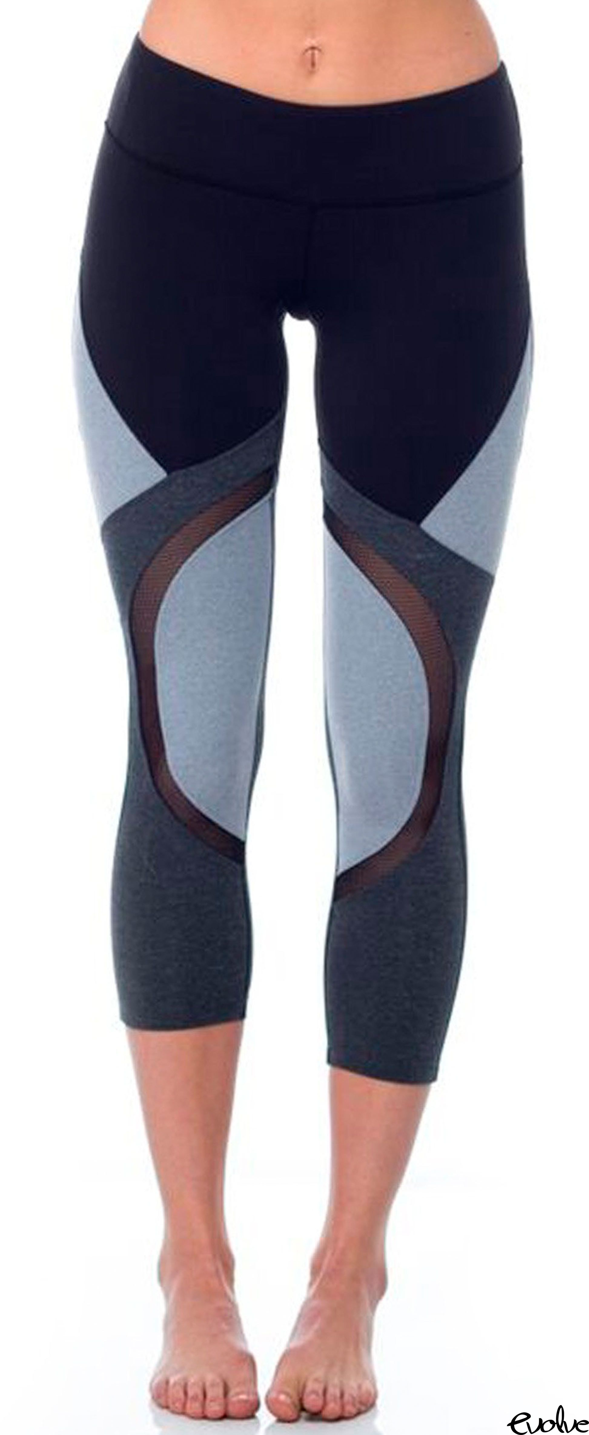 fe1d150f37 Ditch the solid colors for color block detailing with the Division Capri  from Splits59. Shop now at www.evolvefitwear.com.