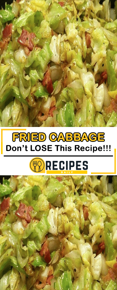 Photo of FRIED CABBAGE RECIPE Southern Fried Cabbage – So simple yet absolutely ADDICTI…