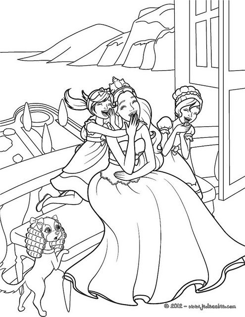 Barbie Princess And The Popstar Colouring Pages