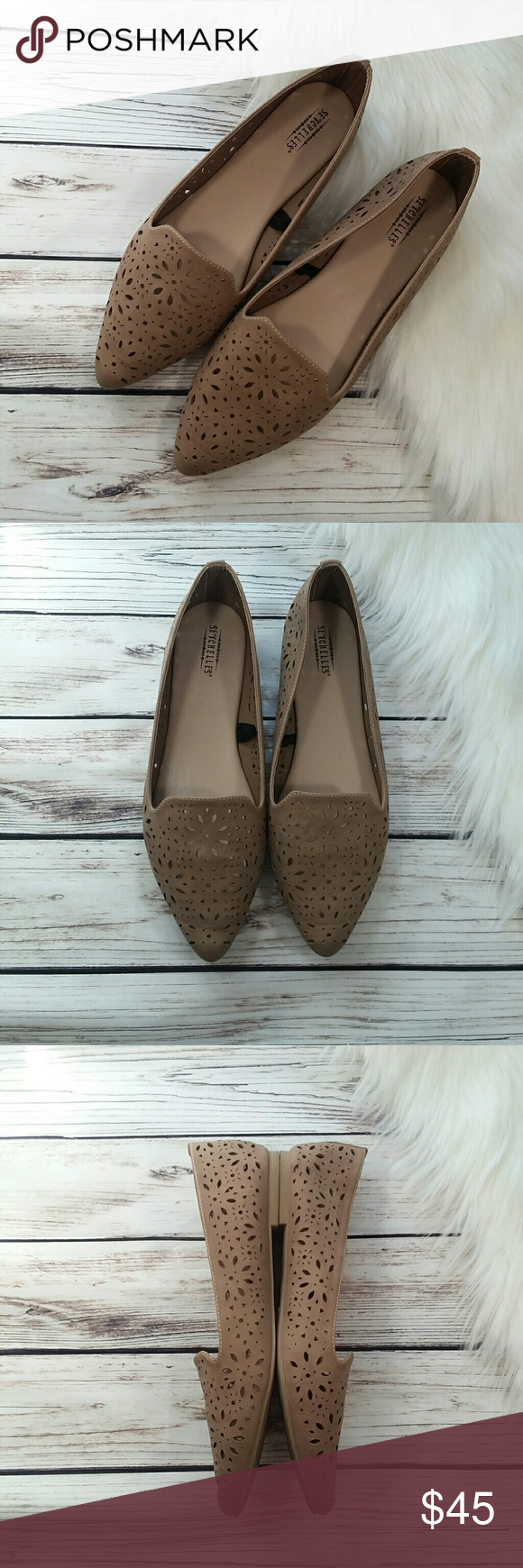 ANTHROPOLOGIE SEYCHELLES TAN POINTED
