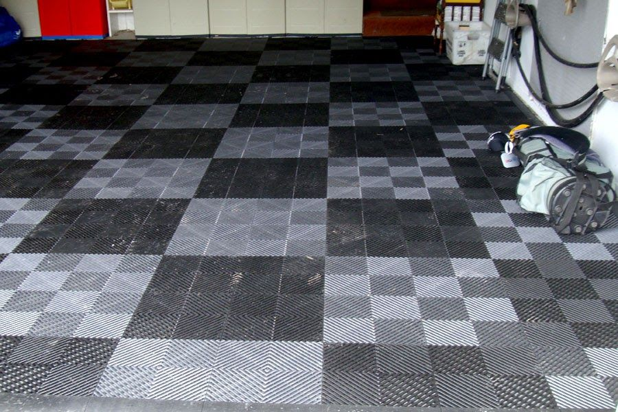 Vented Grid Loc Tiles Modular Tiles For Garages With Images