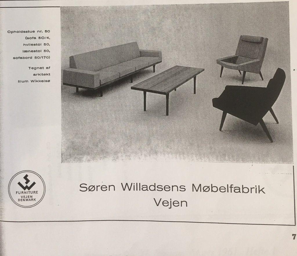 Danish midcentury rosewood coffee table, Illum Wikkelsø