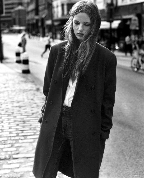 manteau noir femme coupe homme