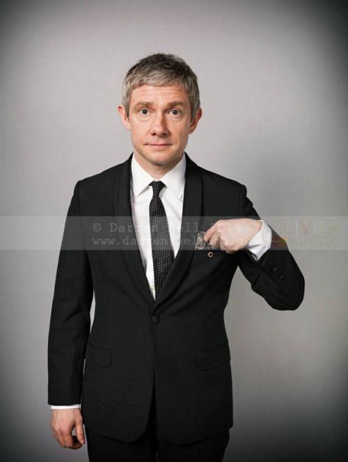 Martin Freeman by Darren Bell from 2014 Olivier Awards - Portrait Gallery (x)