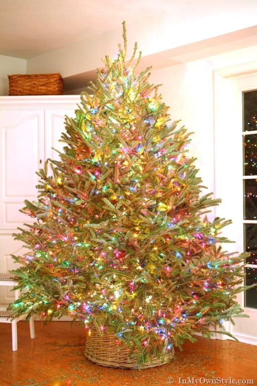 How To String Lights On A Christmas Tree Entrancing String Christmas Tree From Top To Bottom Cool Ideas For Stringing Design Decoration