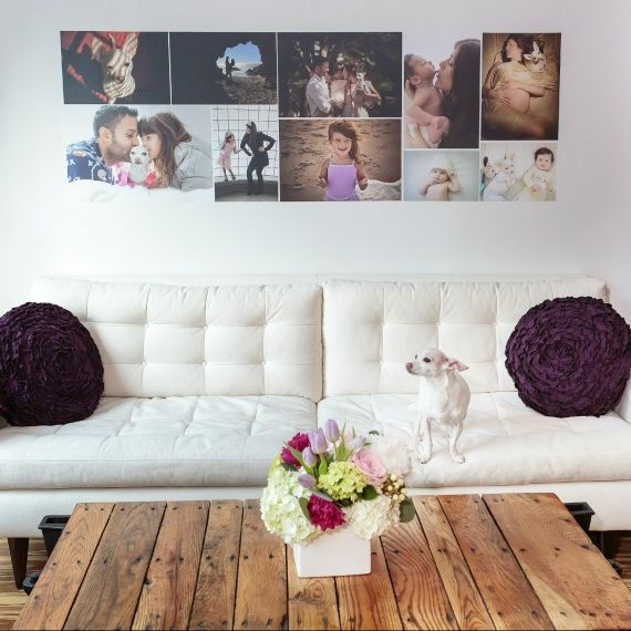 """MarthaStewart.com reviewed our removable photo wallpaper and had this to say: """"For a simple yet stunning addition to your living-room decor, try printing custom images onto removable photo wallpaper -- it's a great alternative to traditional framed photos."""""""
