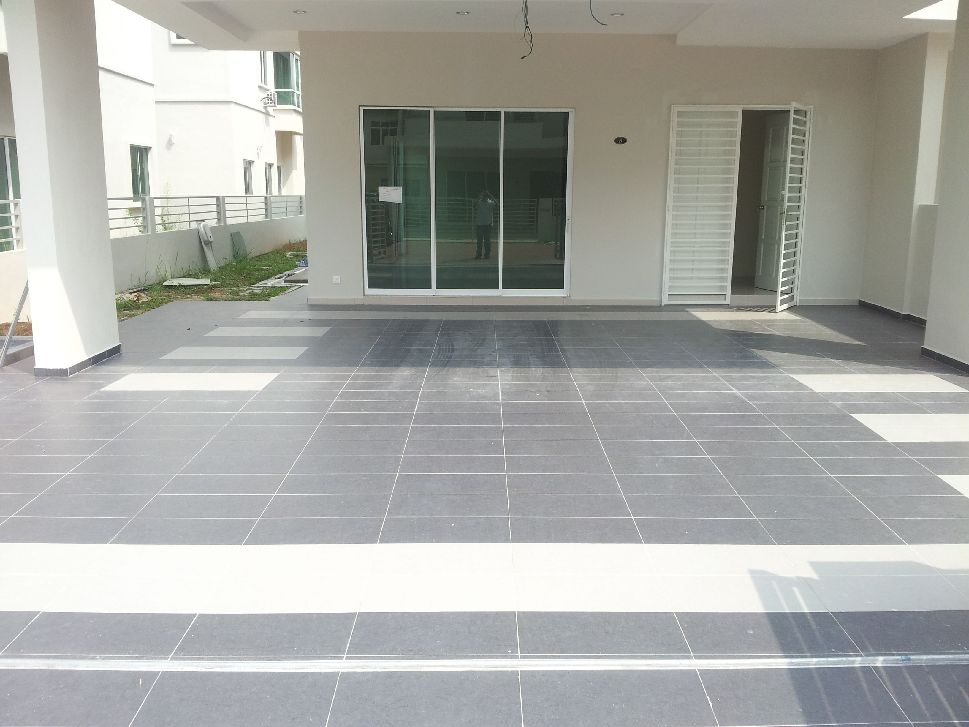143 Reference Of Car Porch Floor Tile Designs Porch Tile Patio Flooring Floor Tile Design