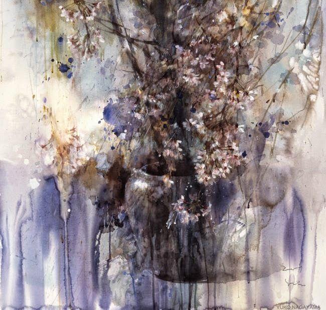 Yuko Nagayama 永山裕子 1963 Symbolic Watercolor Painter