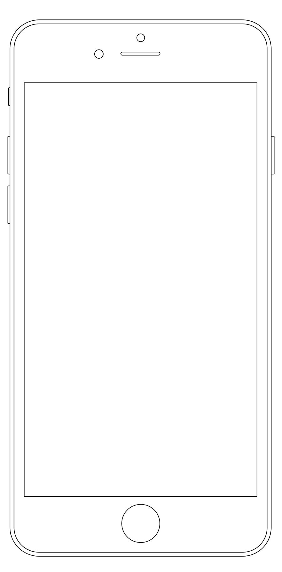iPhone outline Wireframe Mockup PSD Wireframe, Wireframe