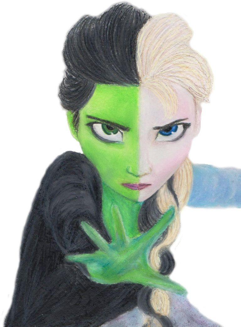 Elphaba/Elsa Wicked/Frozen Crossover