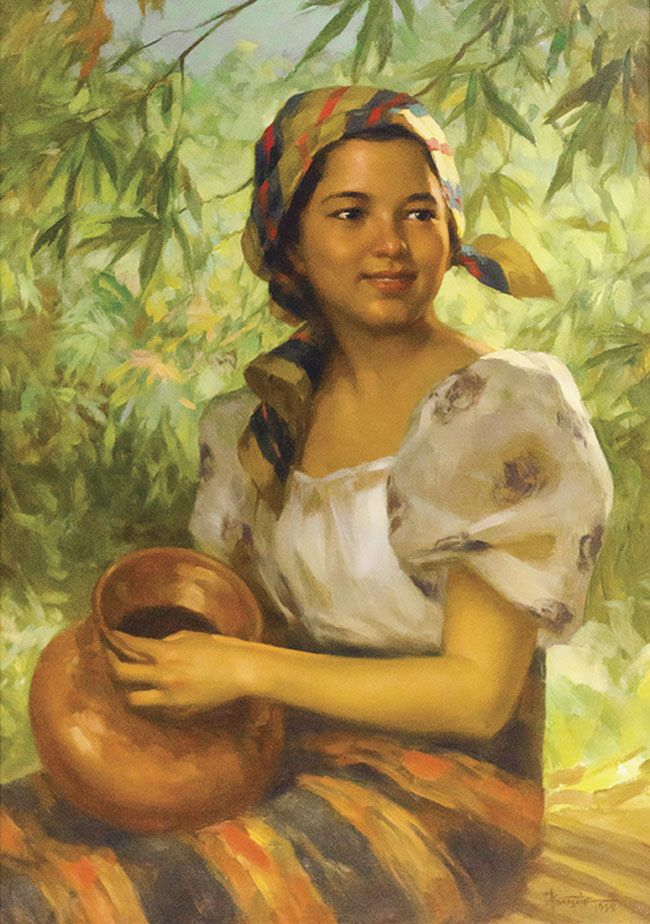 Farm Girl Fernando Amorsolo. Filipino art, Philippine