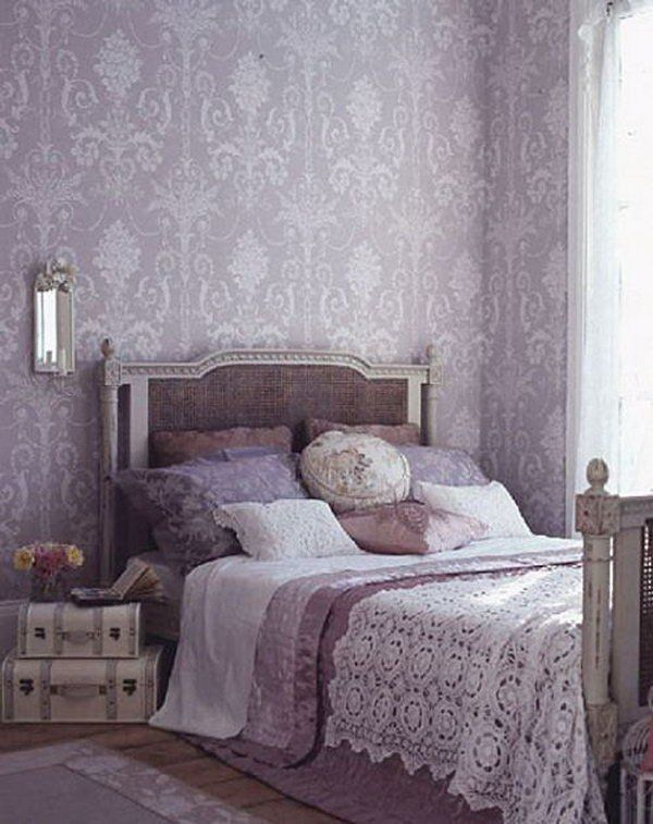 Room · Purple Wallpaper: I Love The Laura Ashley Josette Wallpaper, The  Color Scheme ...