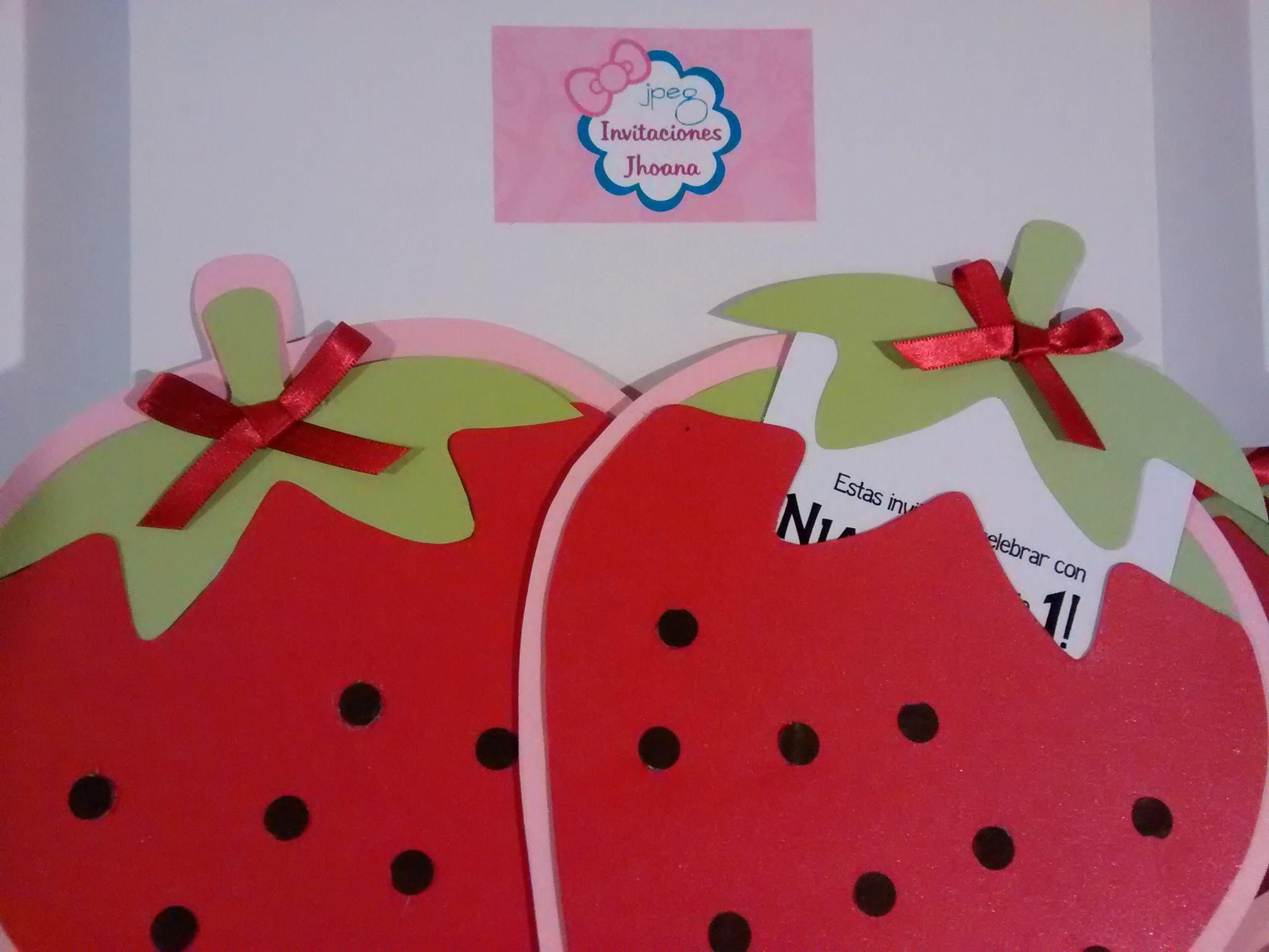 Invitaciones De Rosita Fresita Cumpleaños De Frutillita