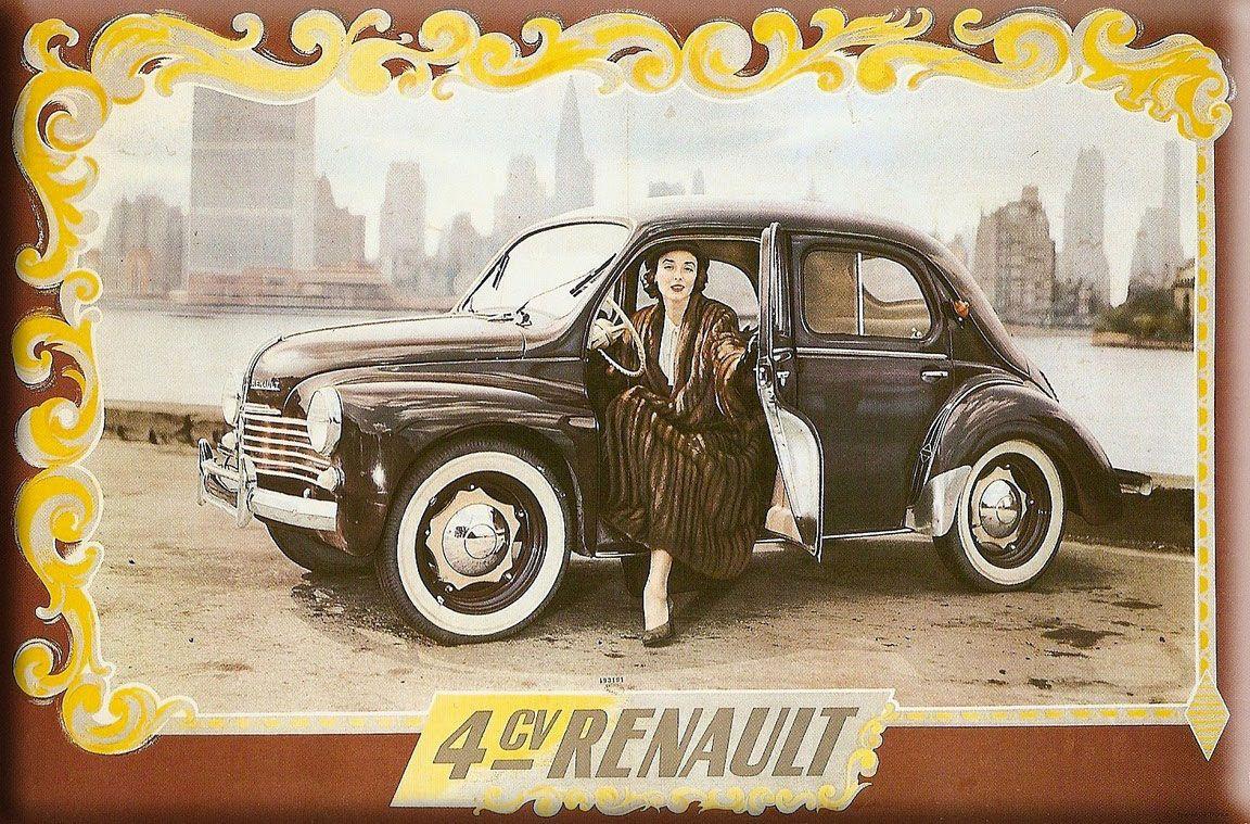 affiche ancienne publicit u00c9      4 cv renault     vintage