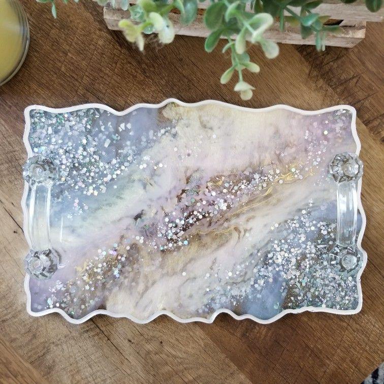 Handmade Unicorn Inspired Resin Tray