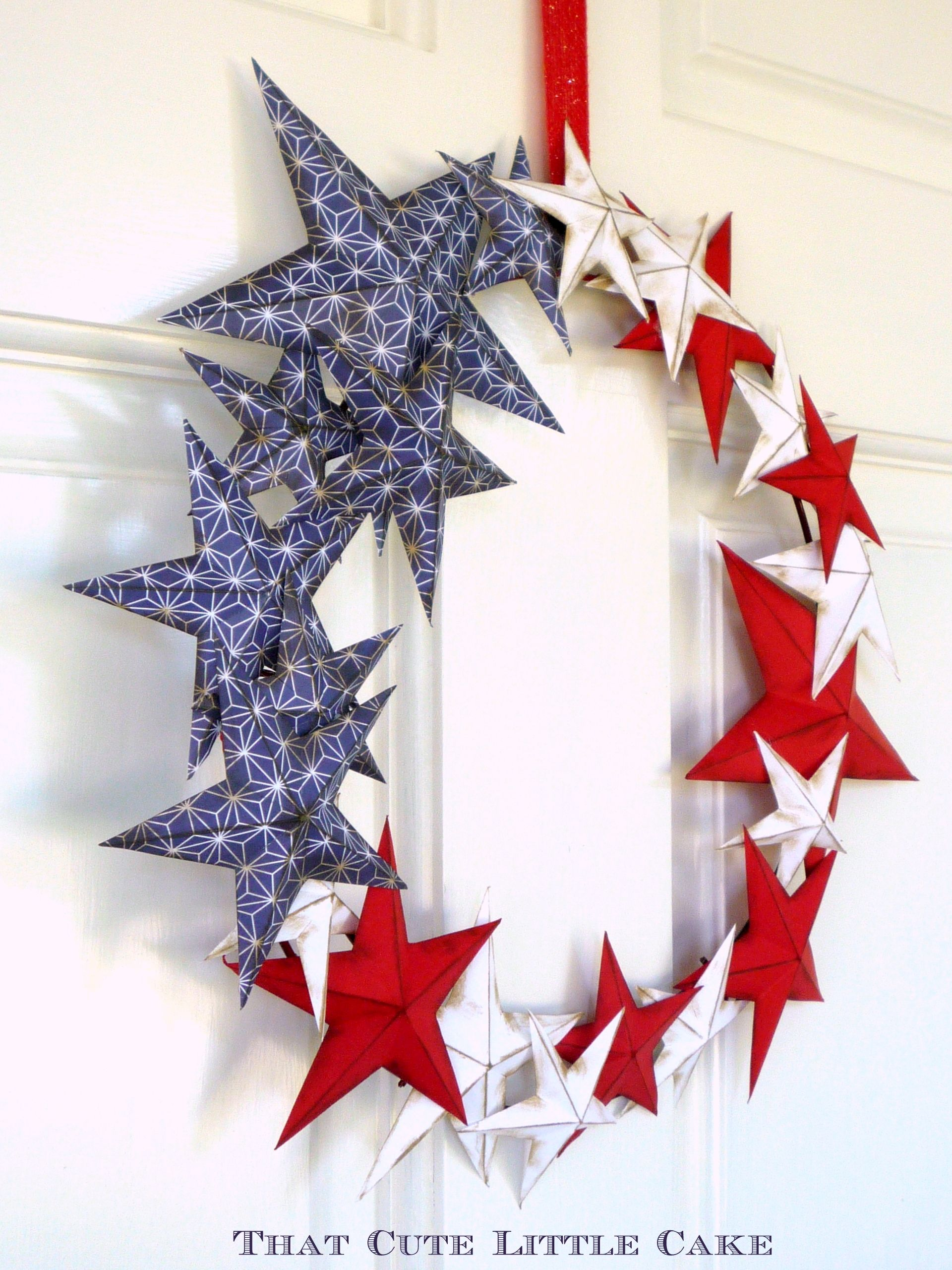 Patriotic July 4Th Paper Wreath Diy - Catch My Party