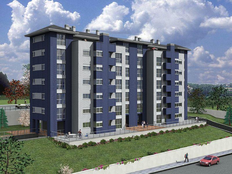 Edificios moderno exterior dibujos plantas arboles for Exterior edificios