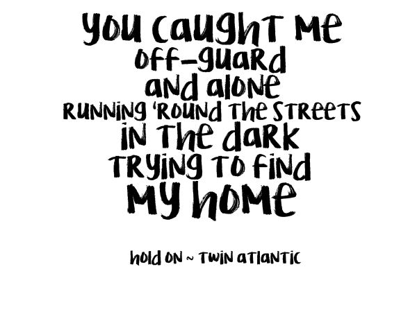Twin Atlantic Hold On Music Words Lyrics