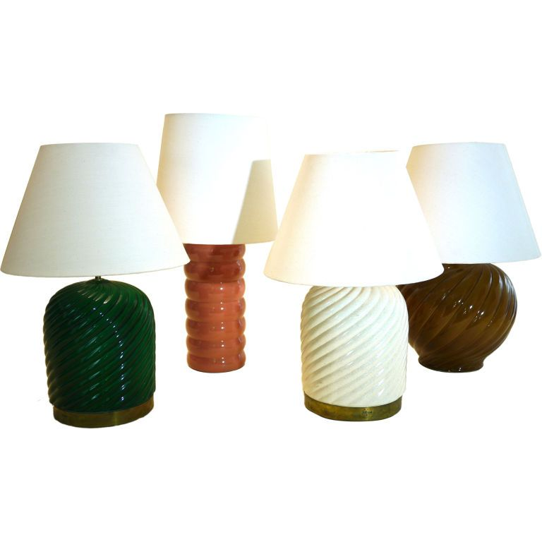 Set of ceramic table lamps by Tommaso Barbi | Ceramic table lamps ...