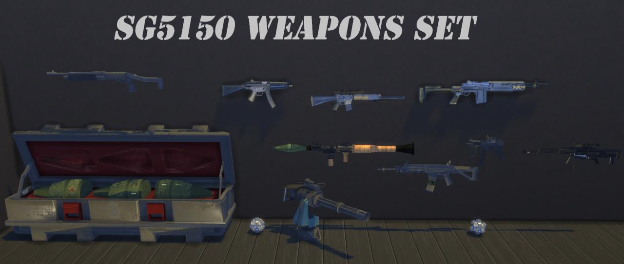 sg5150 — sg5150 Weapons Set Xan Krieger/Capital Sims 3 to
