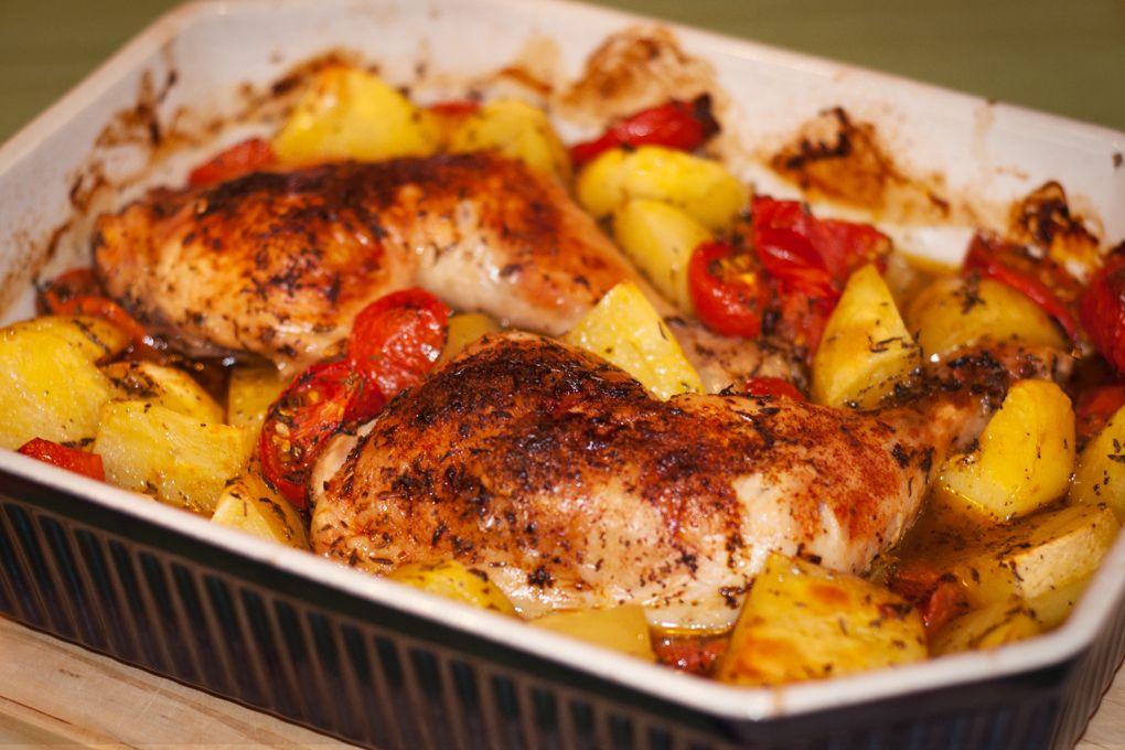 Bosnisches Hähnchen aus dem Ofen #kartoffelnofen