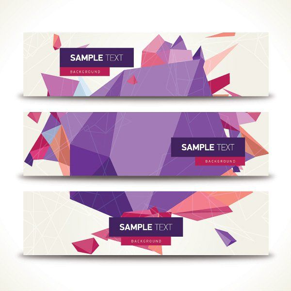 Geometric Banners Vector Graphic u2014 triangular, triangle, abstract - fresh invitation template vector