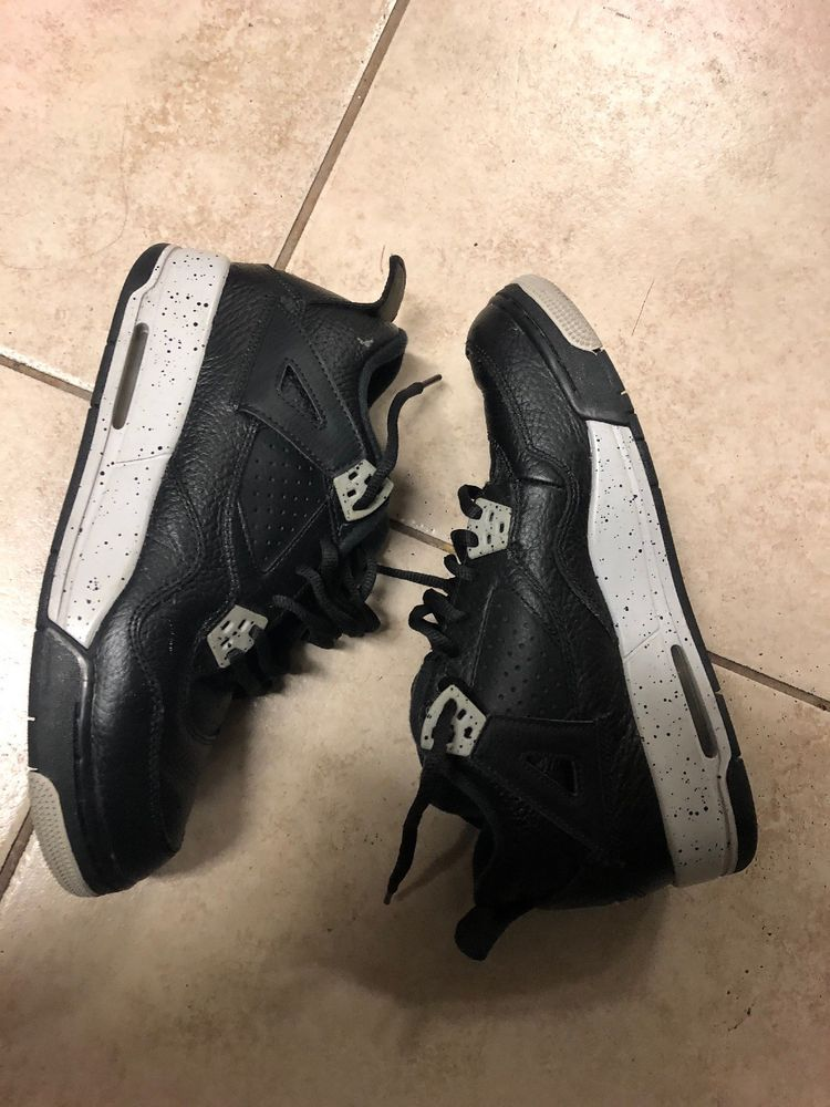 8a4e9958f6fdf1 NIKE AIR JORDAN 4 RETRO BG OREO (408452-003) BASKETBALL SHOES BOYS YOUTH  6.5Y  fashion  clothing  shoes  accessories  kidsclothingshoesaccs   boysshoes (ebay ...