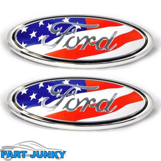 2004 14 Ford F150 9 Inch American Flag Front Grille Tailgate