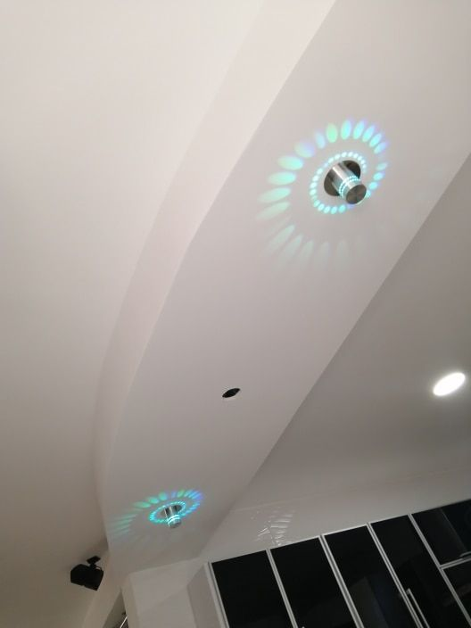 Modern Swirl LED Ceiling Light in 2020 (With images)   Led ...