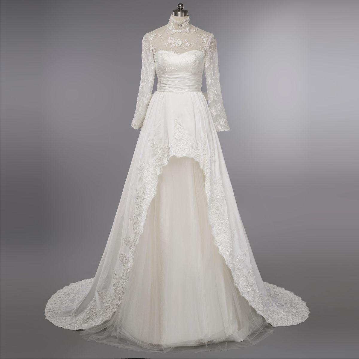Wedding dresslong sleeves wedding dresshigh neck wedding dress