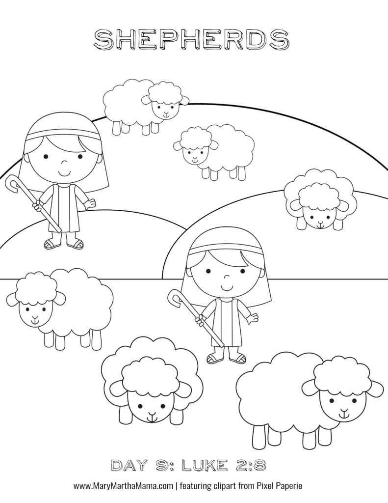 adventcoloringbookpage9 Coloring pages, Coloring