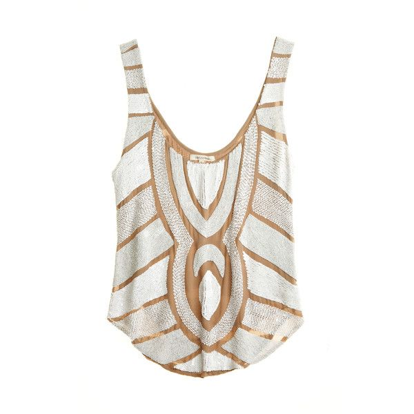 RENZO AND KAI Beaded Deco Top found on Polyvore