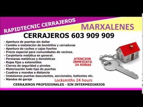 CERRAJEROS MARXALENES VALENCIA 603 909 909