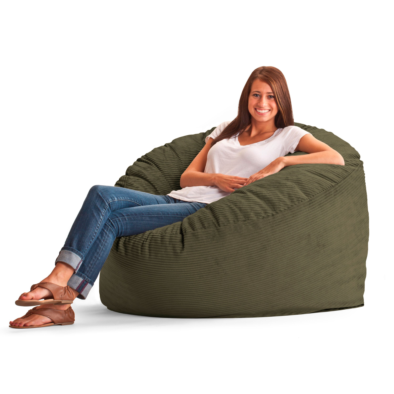 Astonishing Comfort Research Fufsack Wide Wale Corduroy 4 Foot Bean Bag Cjindustries Chair Design For Home Cjindustriesco