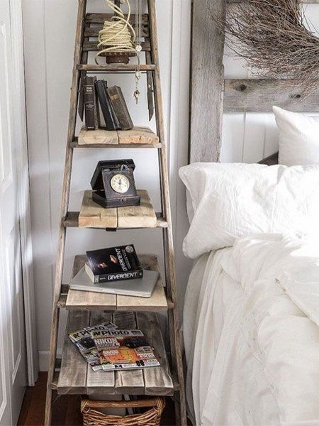 Upcycling ideen leiter regal dekoration pinterest - Regal schlafzimmer ...