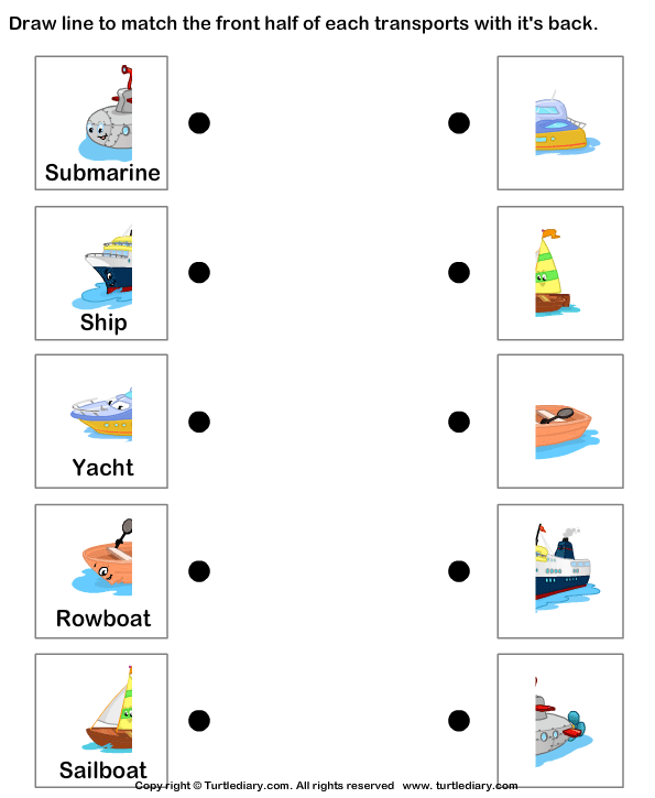 Modes of Transportation – Transportation Worksheets for Kindergarten