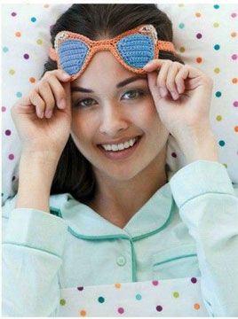 схема вязания крючком маски для сна вязане крючком Crochet