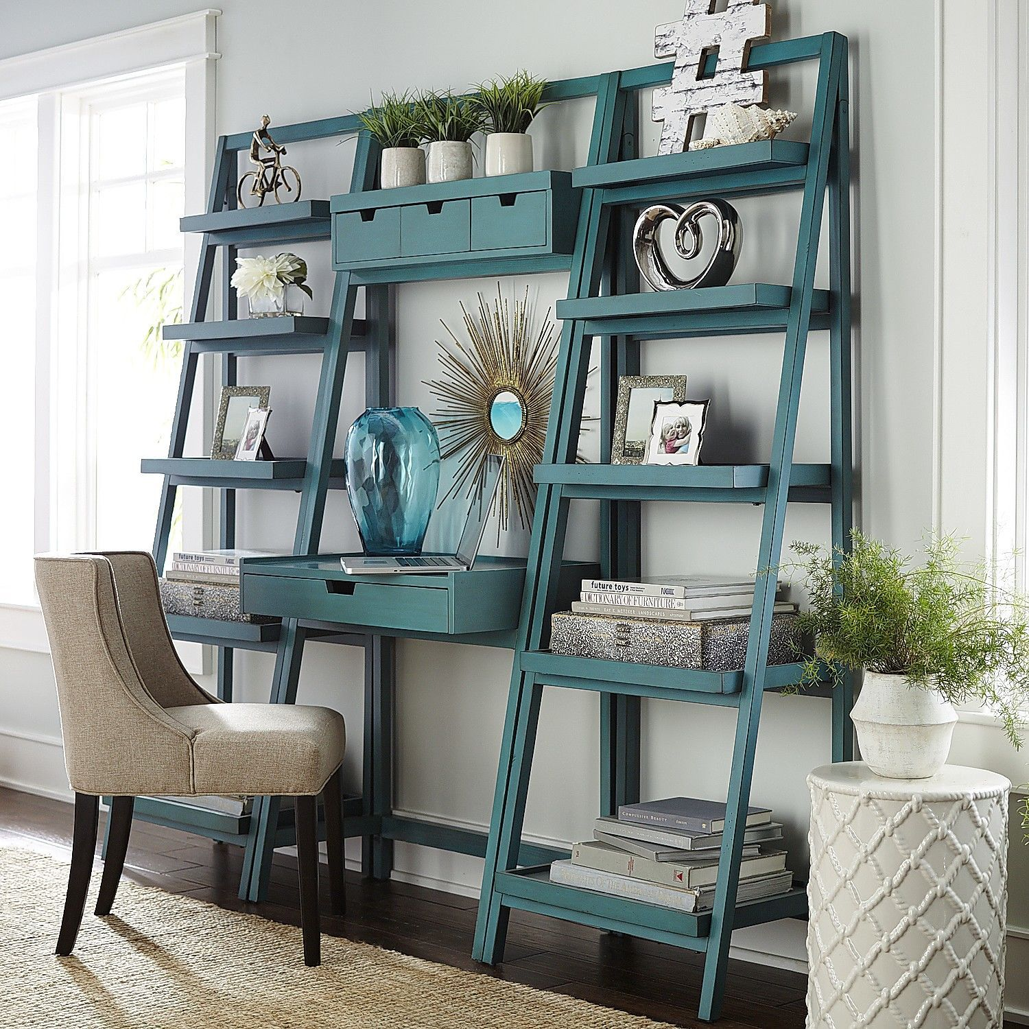 Morgan Desk   Smoke Blue | Pier 1 Imports