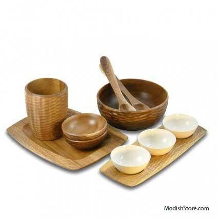 Enrico Mango Wood Honeycomb Set/6 - Acacia – Modish Store