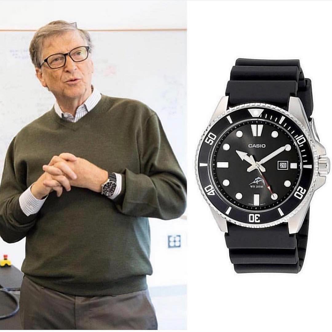 Bill Gates wears a Casio watch. | Montres homme, Montre, Montre homme pas  cher