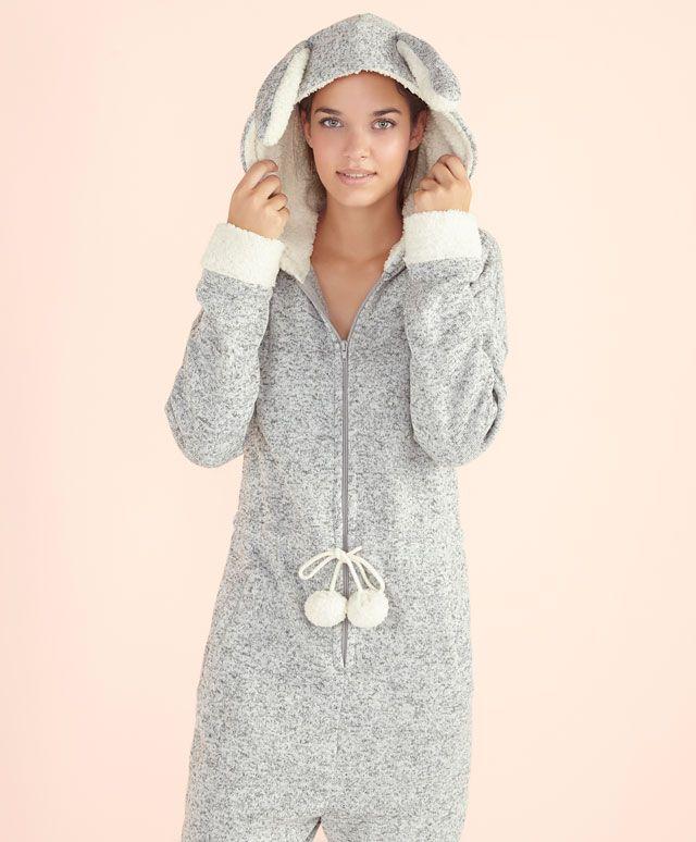 onesie Soft Oysho Jumpsuit Rabbit Pinterest Catsuit ZEIqS1p