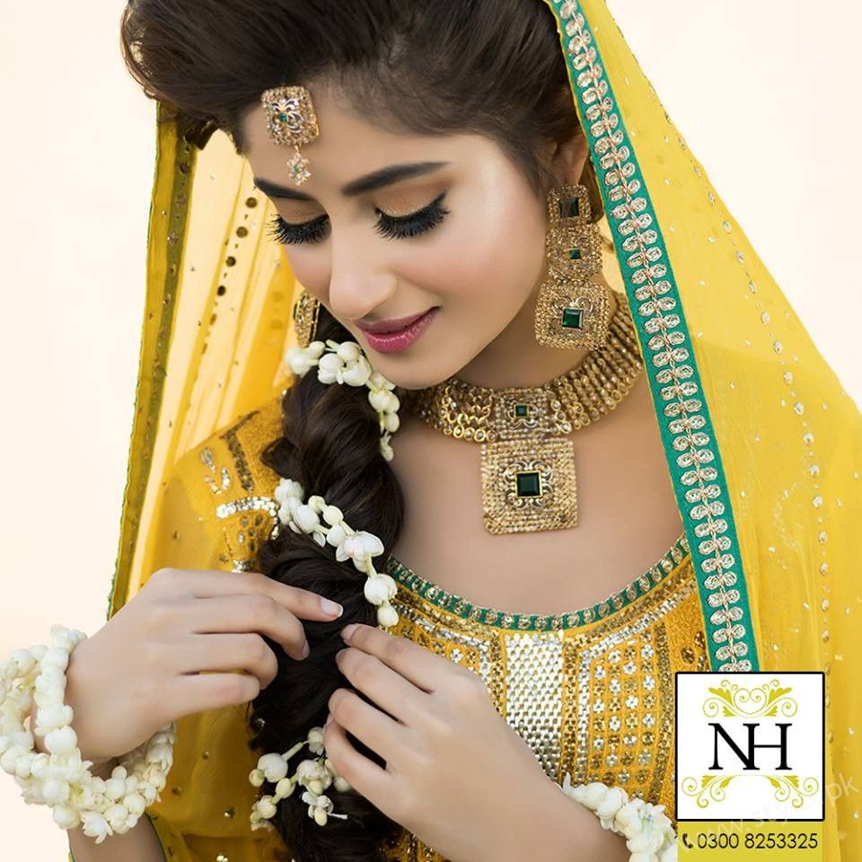 Ayyan ali bridal jeweller photo shoot design 2013 for women - Sajal Ali Bridal Photoshoot For Nadia Hussain Salon Check Out All The Pictures Of Bridal And Mayun Look With Makeup And Jewellery