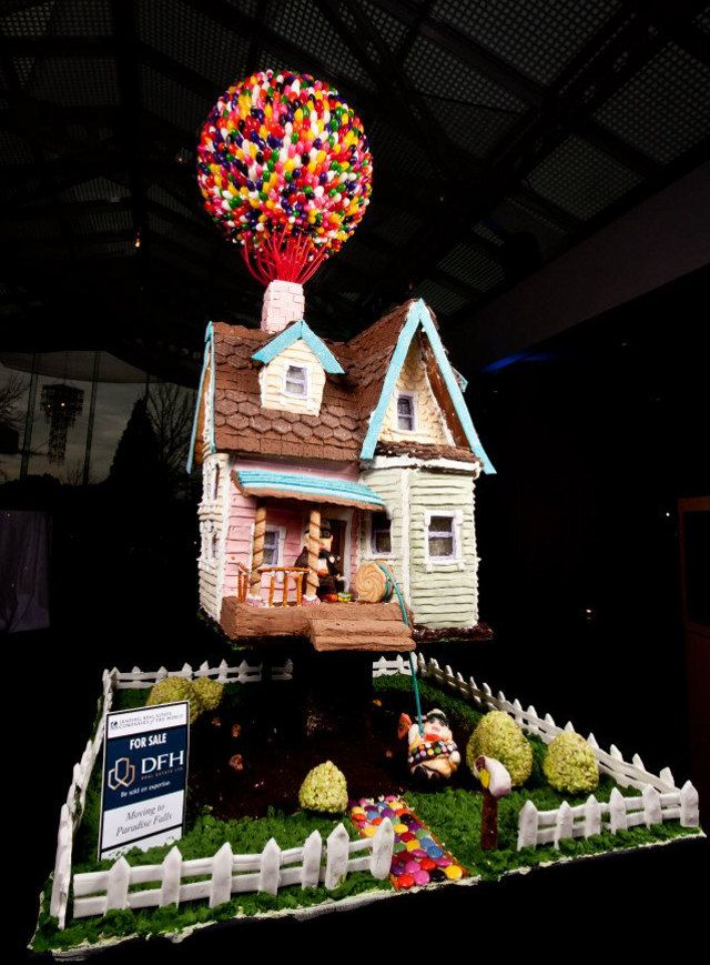 Up gingerbread house points to ponder and things to for Cool designs for gingerbread houses
