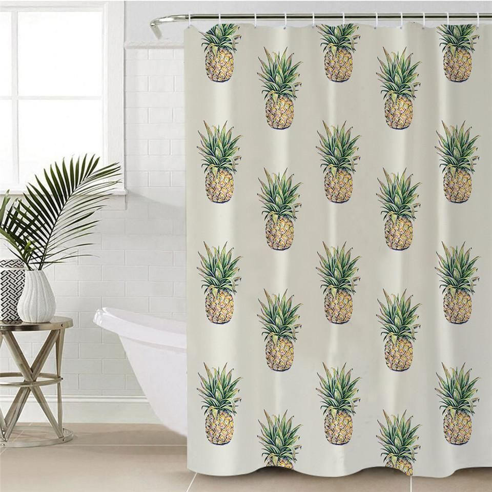 Pineapple Galore Shower Curtain 70 X 86 Curtains Cool