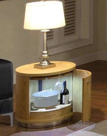 Jual Curve Oak Mini Bar And Lamp Table Jf608 275 00