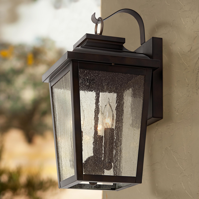 Minka Irvington Manor 16 3 4 High Bronze Outdoor Wall Light