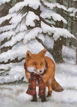 """Customizable Card: """"Winter Fox"""" from @Terry Fan"""